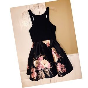 Crystal Doll Black/Floral Dress Sz 11